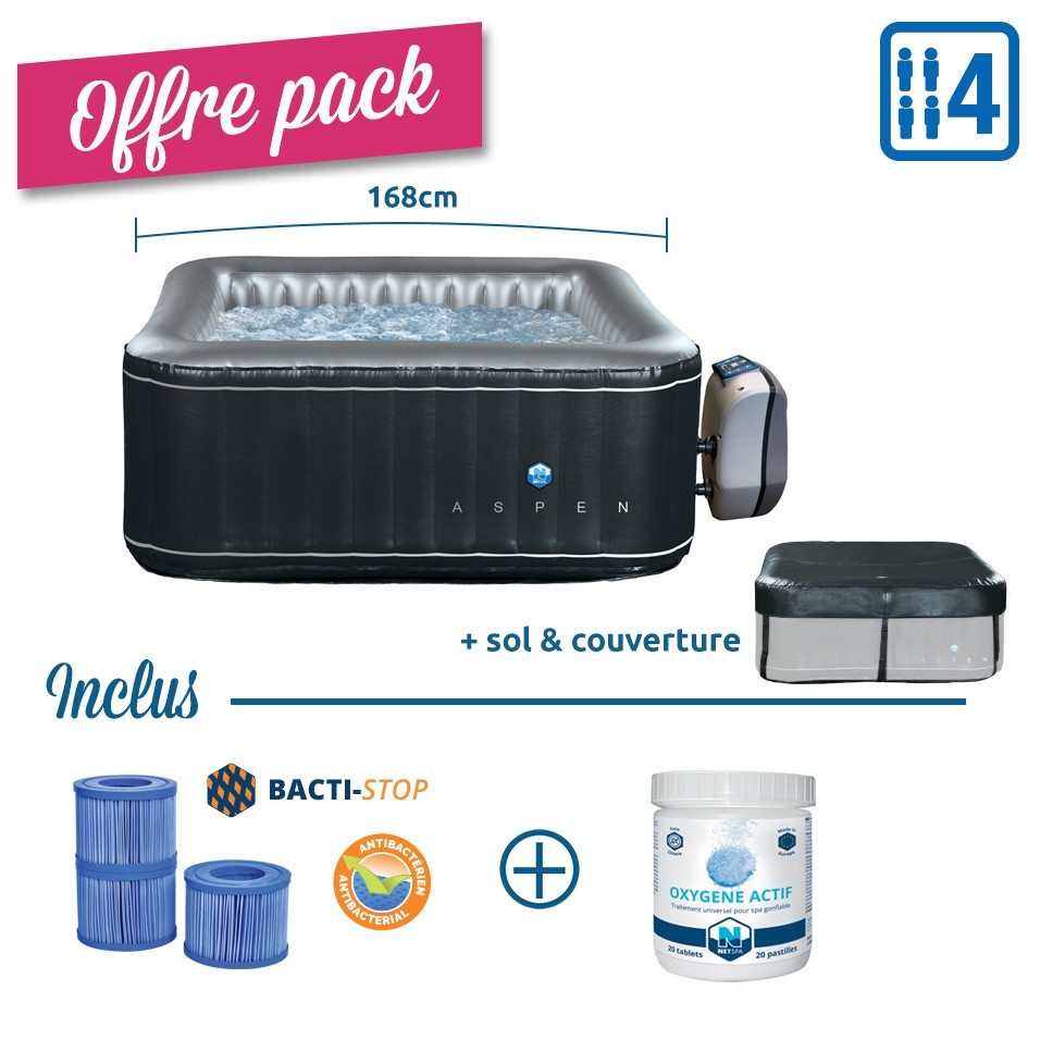 PACK Spa gonflable carré...